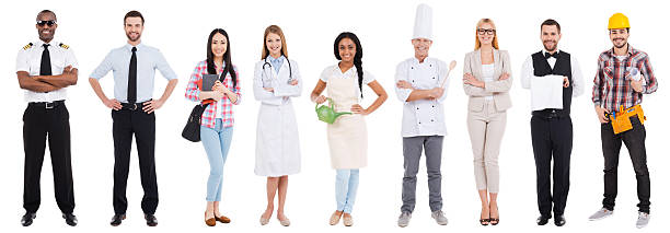 different occupations. - uniform stock photos and pictures