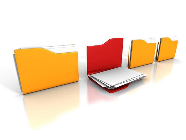Verschiedenen Office-Dokumente Papier-Ordner eröffnet – Foto