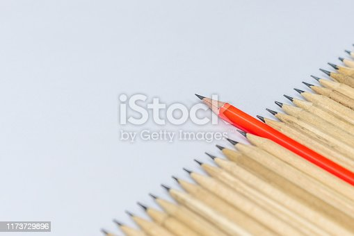 862670984 istock photo Different pencil standout show leadership concept. 1173729896