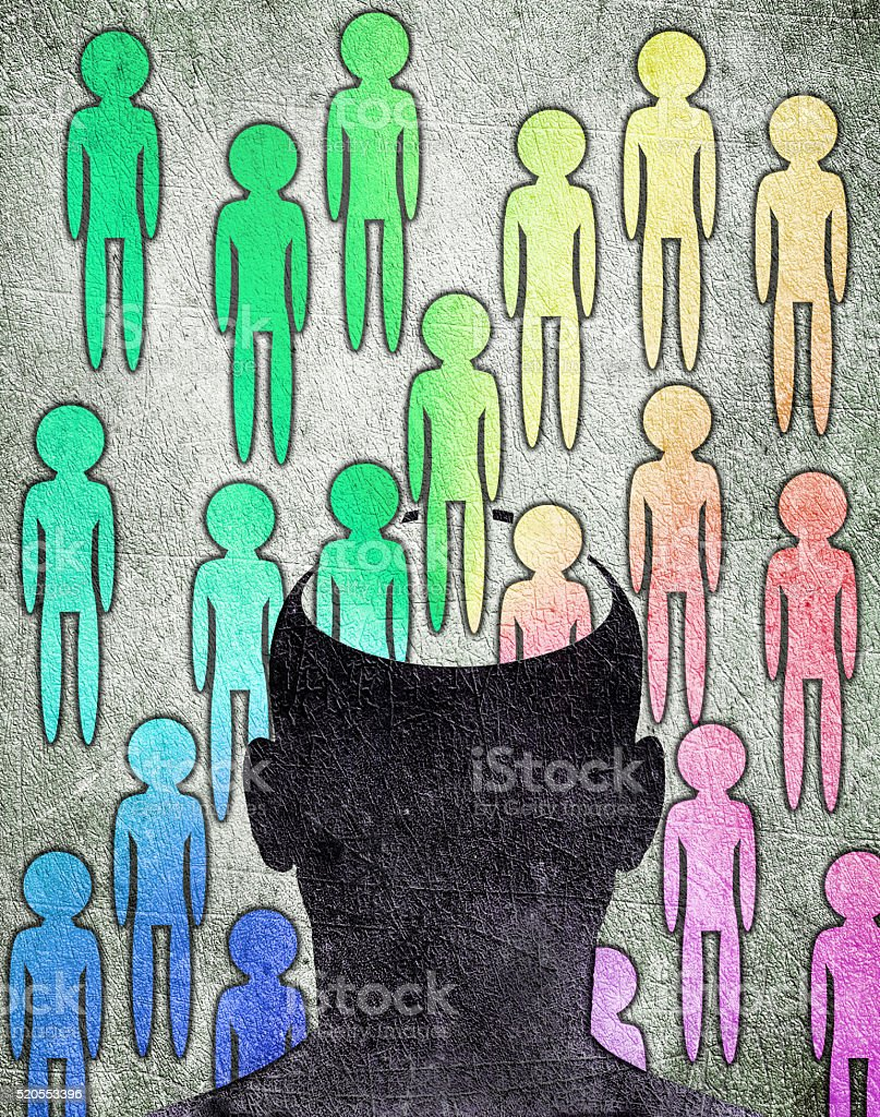 different personality stock photo