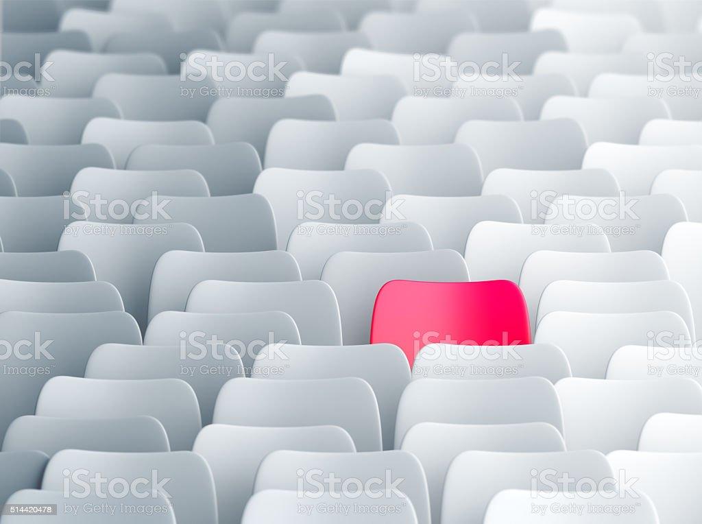 Different pink chair stock photo