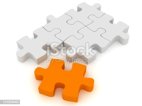 istock Different Puzzle 124328402