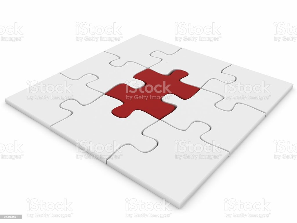 Different Puzzle royalty-free stock photo