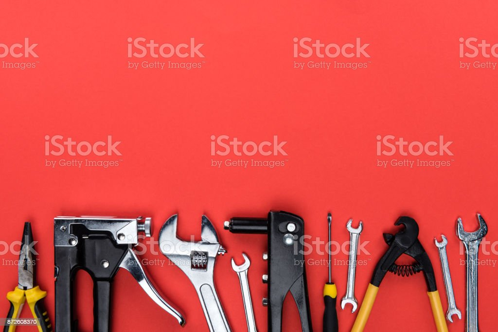different reparement tools stock photo