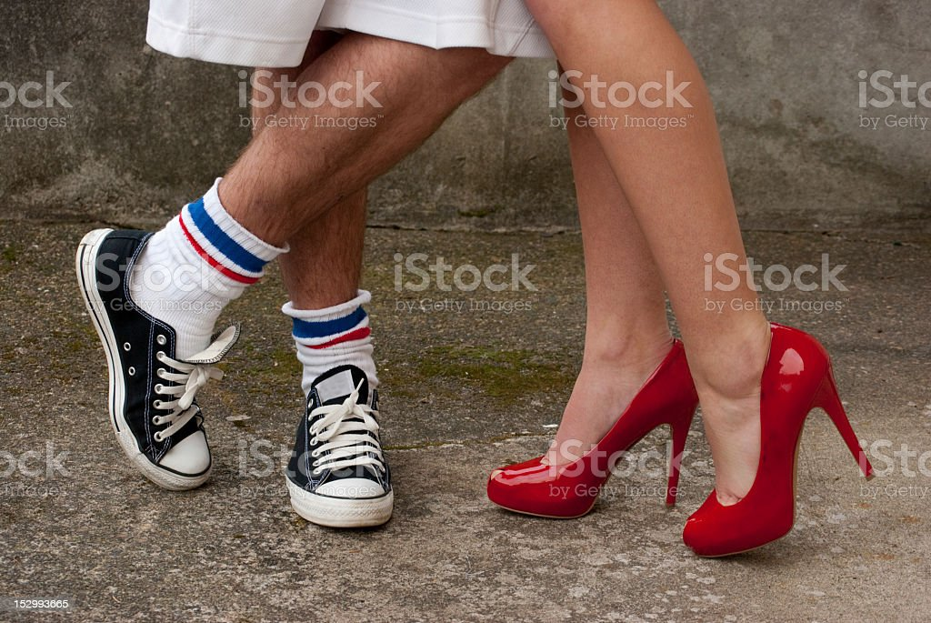 Different Shoes stock photo
