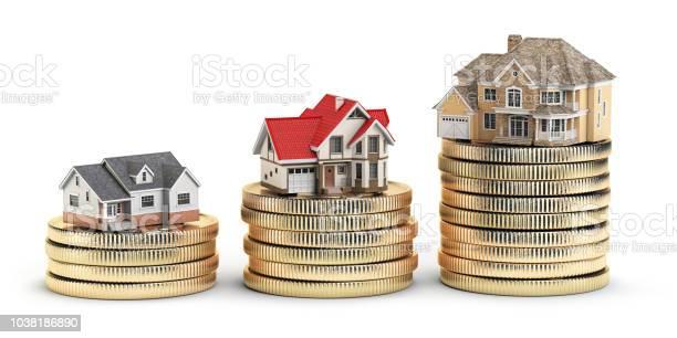 Different size houses vith different value on stacks of coins concept picture id1038186890?b=1&k=6&m=1038186890&s=612x612&h=hivlzcpzjp2v0gnzj jxpl6dthqyrm1du1s1gt96h4s=