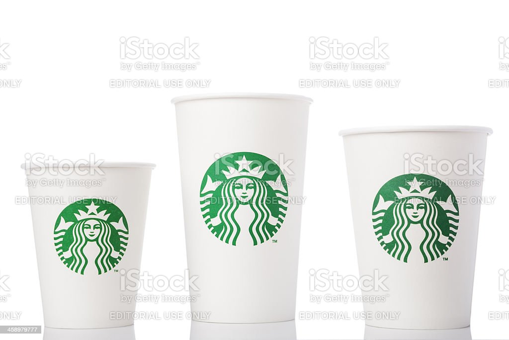 Different size Paper Cups stock photo
