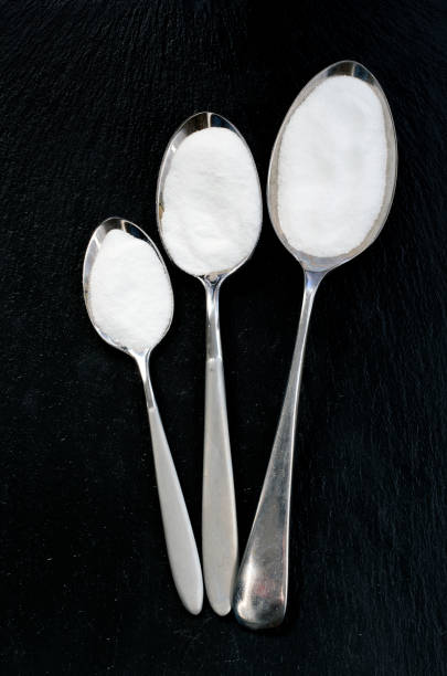 Different Size Spoons stock photo
