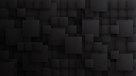 822063742 istock photo 3D Different Size Squares Technology Dark Gray Conceptual Abstract Background 1226721039