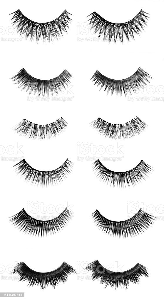 Different Sizes Of False Eyelashes Stock Photo More Pictures Of