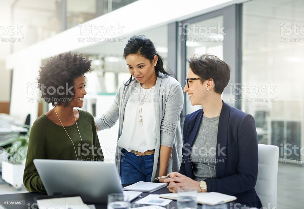 Different skills and expertise working together towards a common goal stock photo