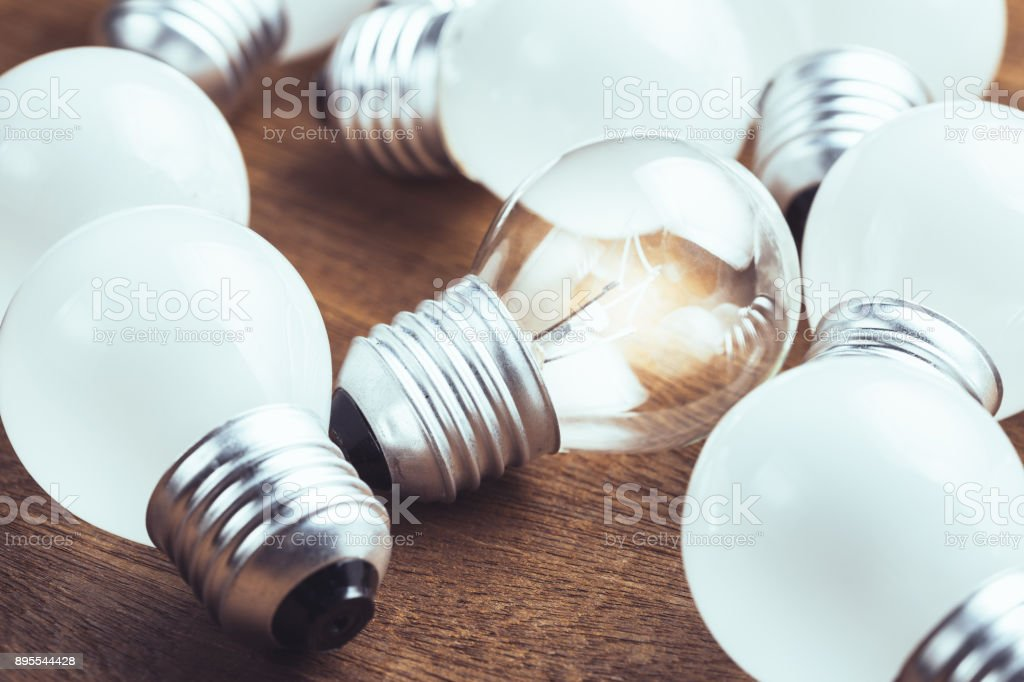 Different Small Bulb stock photo
