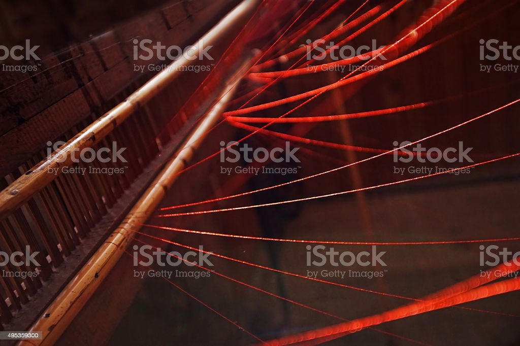 Different Snapshot From A Weaving Mill stock photo