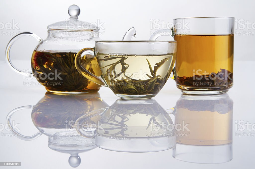 Different sorts of tea stock photo