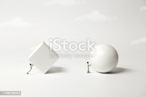 istock different strategy comparison; the easyest the better, surreal minimal concept 1158150023