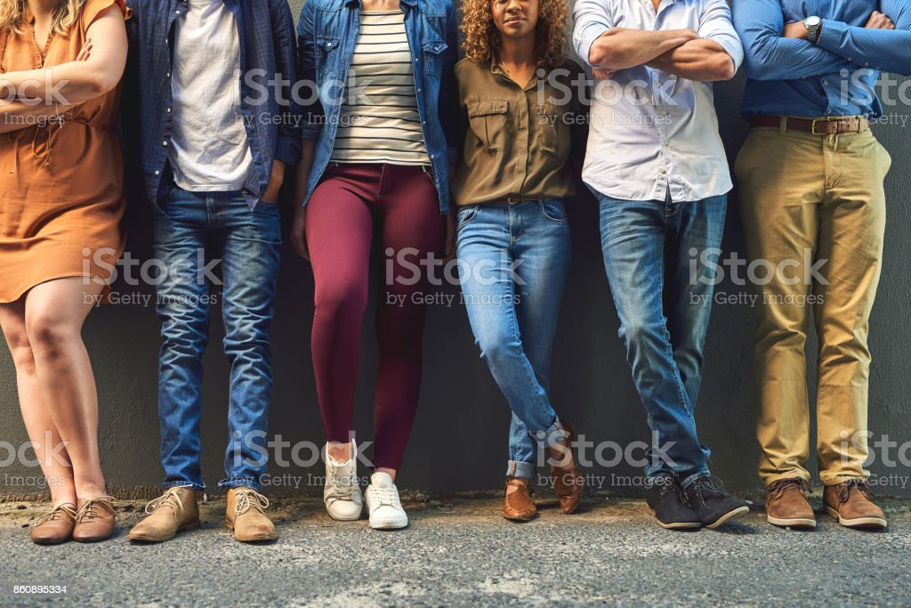 Different styles forming as one stock photo