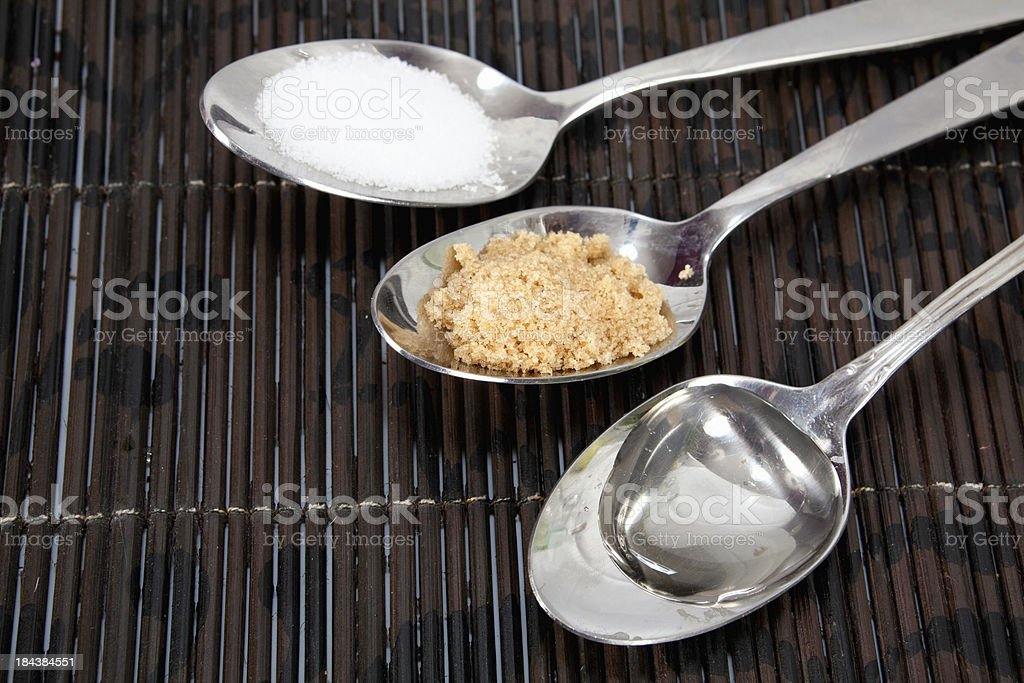Different Sugars royalty-free stock photo