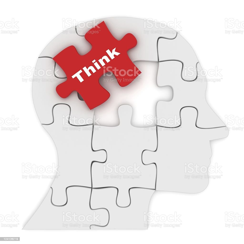 Different Thinking royalty-free stock photo