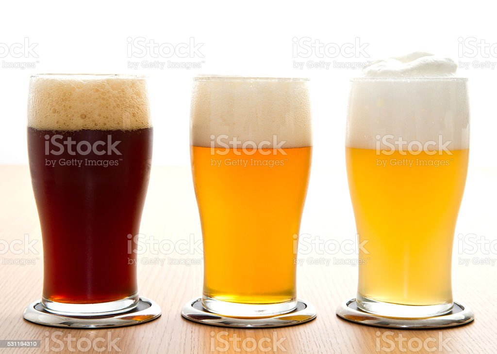 different type of beer stock photo