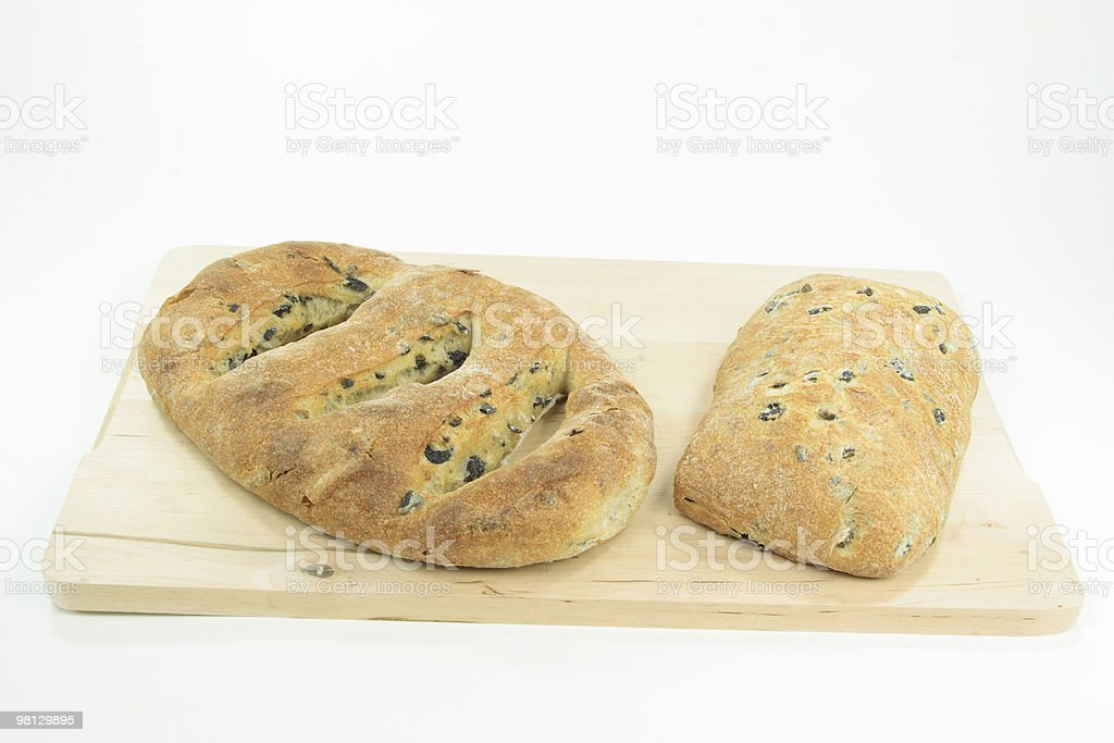 Different types Mediterranean olive breads. royalty-free stock photo