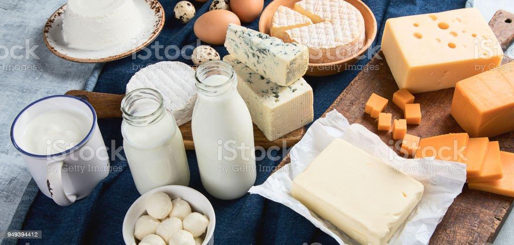 Verschiedene Arten von Milchprodukten – Foto