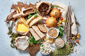 istock Different types of high carbohydrate food. 1260019541