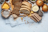 istock Different types of high carbohydrate food. 1260020109