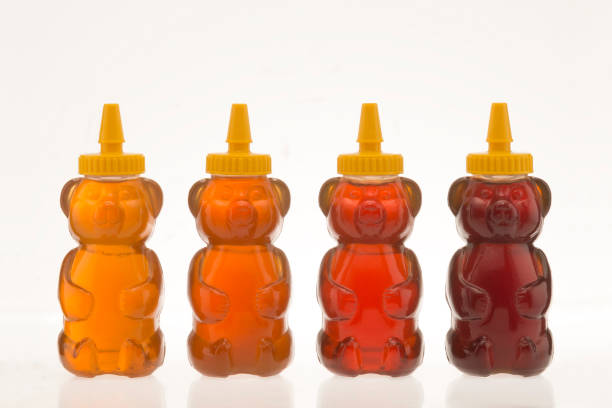 different types of honey stock photo