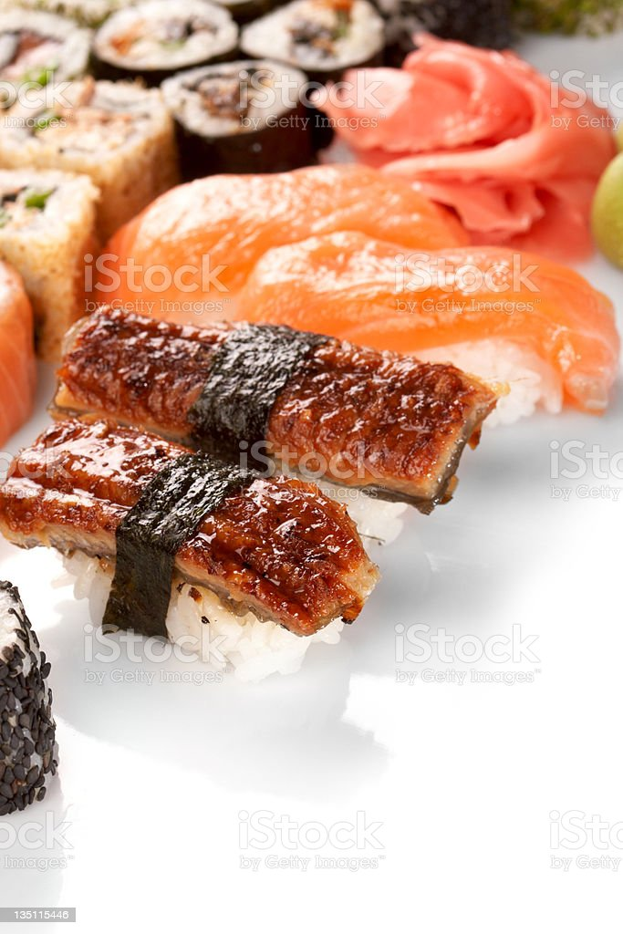 Different types of sushi royalty-free stock photo