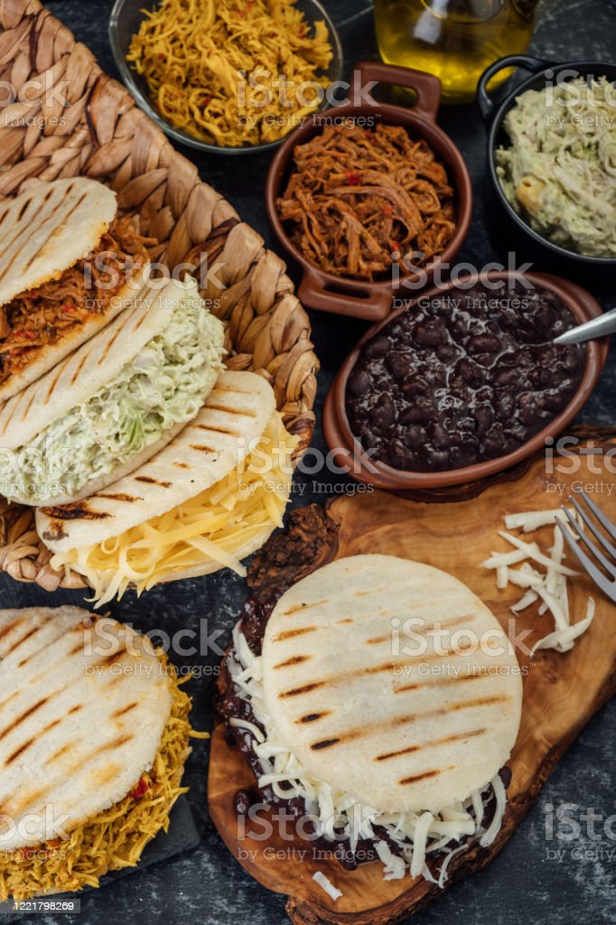 Different Types Of Venezuelan And Colombian Arepas Typical