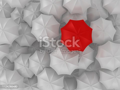 Different Umbrella - 3D Rendering