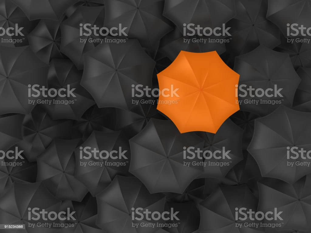 Different Umbrella - 3D Rendering stock photo