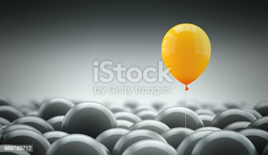 istock Different, unique and standing out of the crowd 666769712