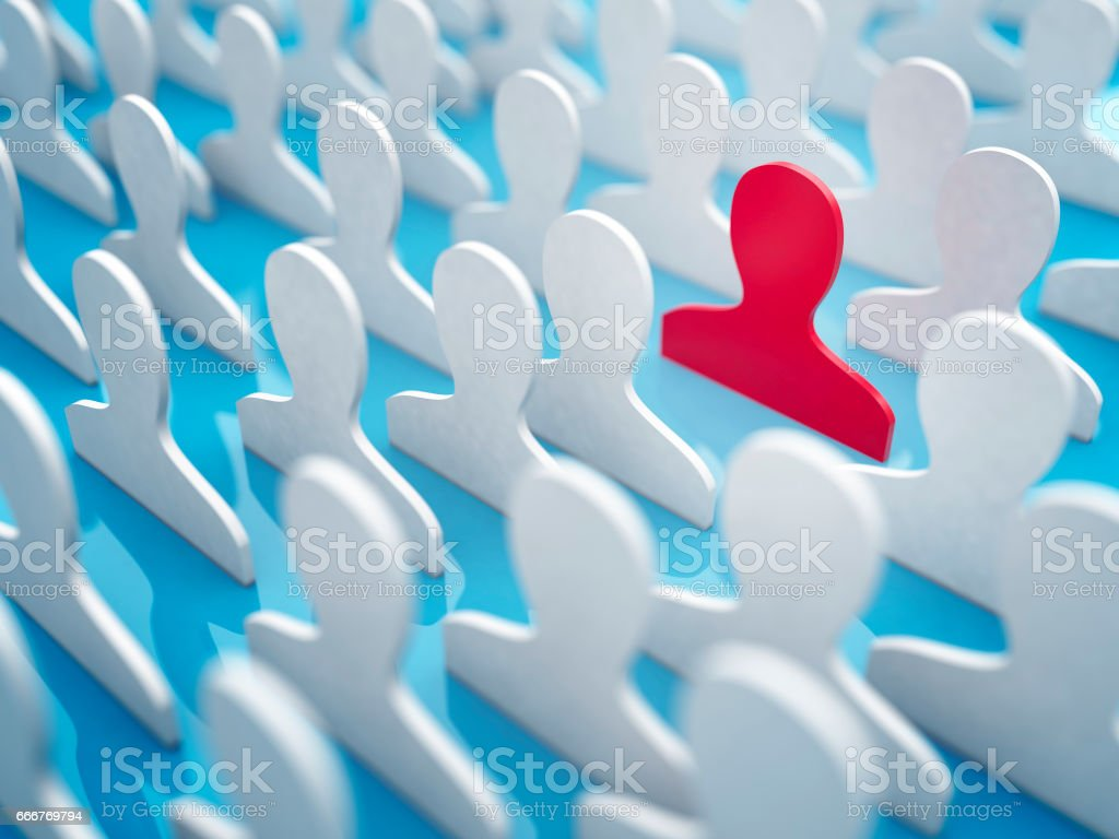 Different, unique and standing out of the crowd foto stock royalty-free