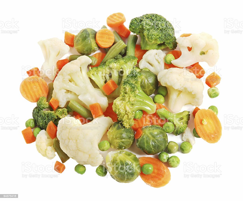 Different vegetables on White royalty-free stock photo