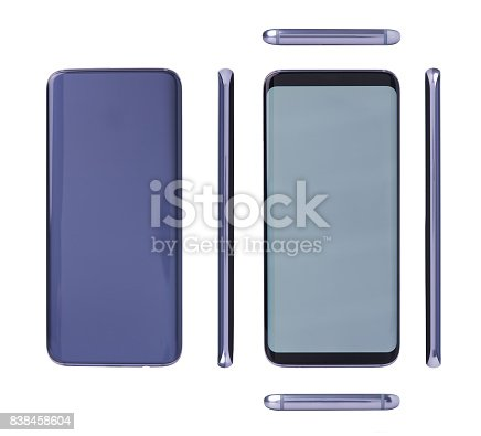 istock Different view of generic modern smartphone 838458604