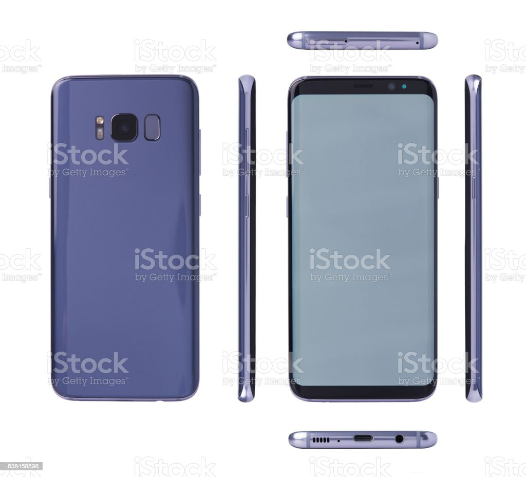 Different views of modern smartphone stock photo