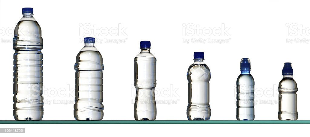 different water bottles royalty-free stock photo