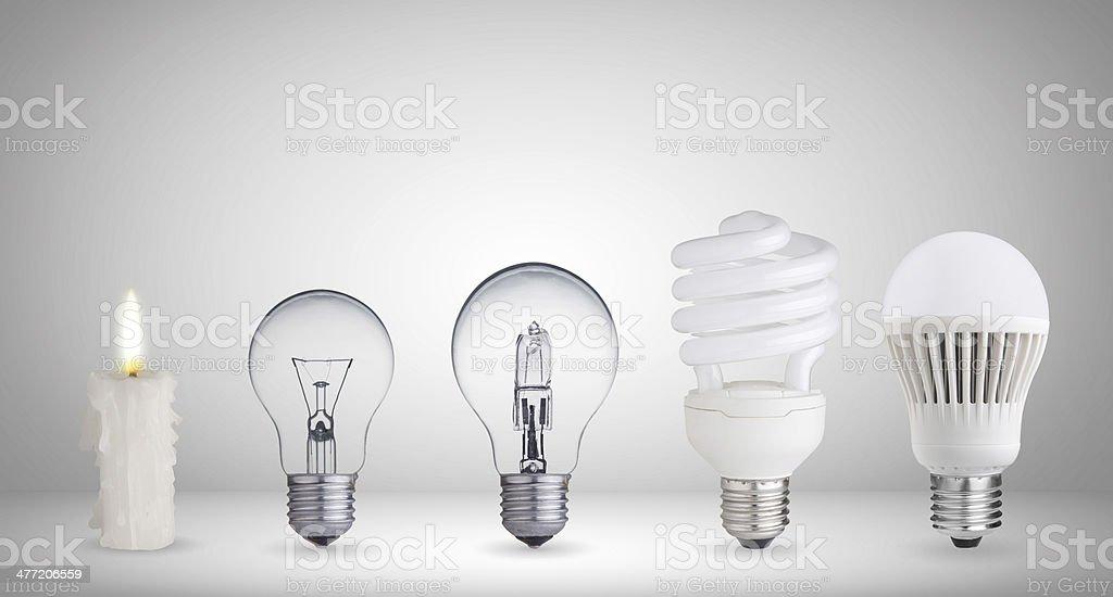Different ways of illumination stock photo