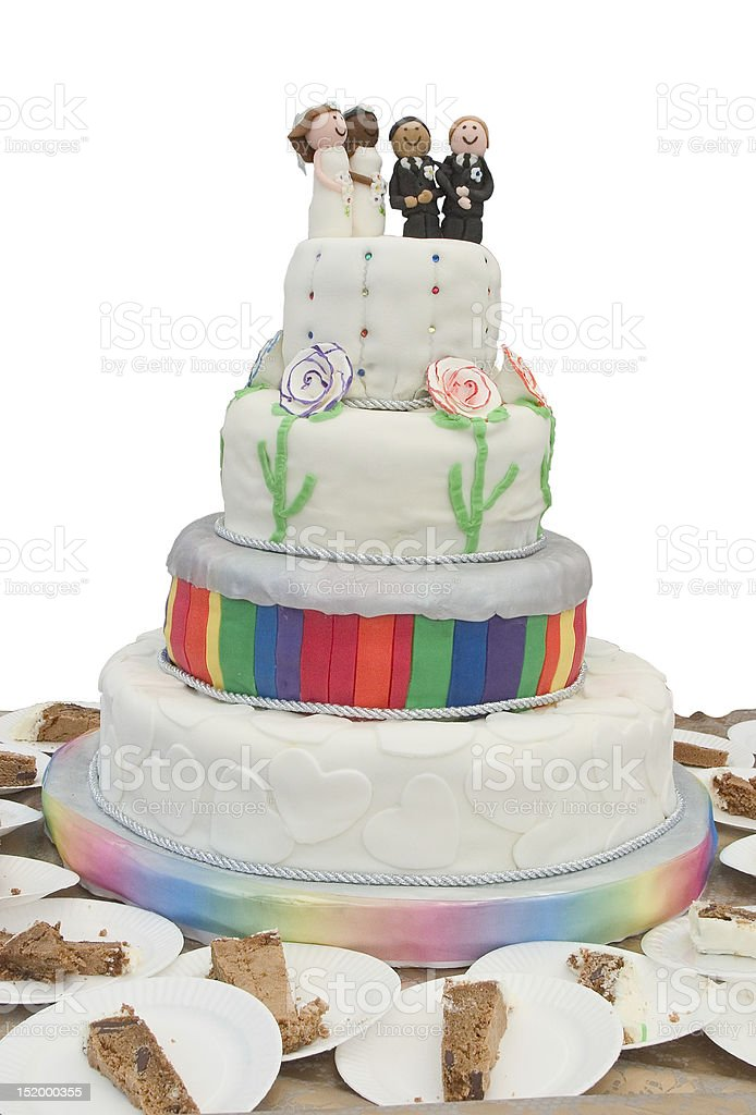 Different wedding cake stock photo