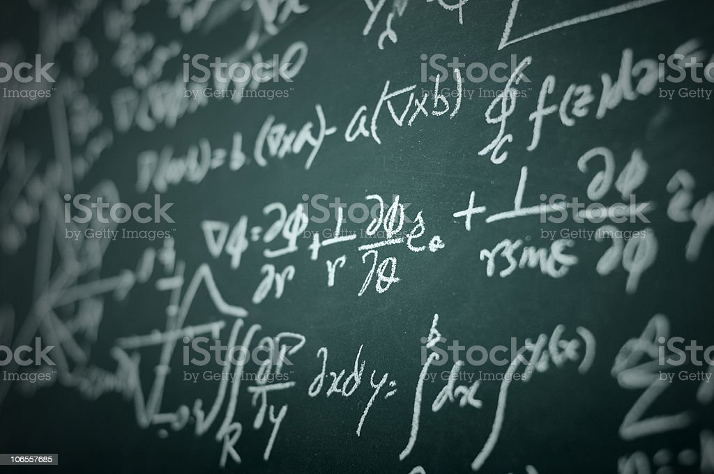 Differential equation royalty-free stock photo