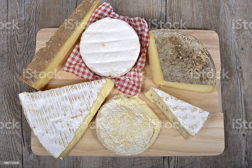 differents french cheeses . royalty-free stock photo