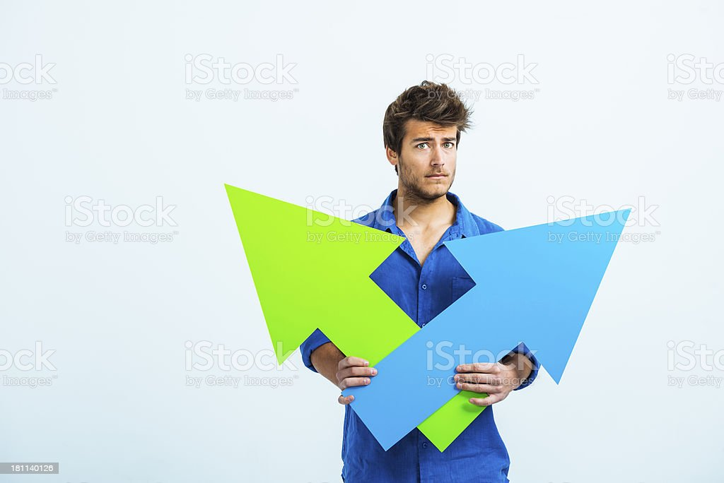 Difficult choice! royalty-free stock photo