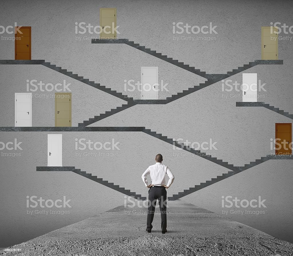 Difficult choice stock photo