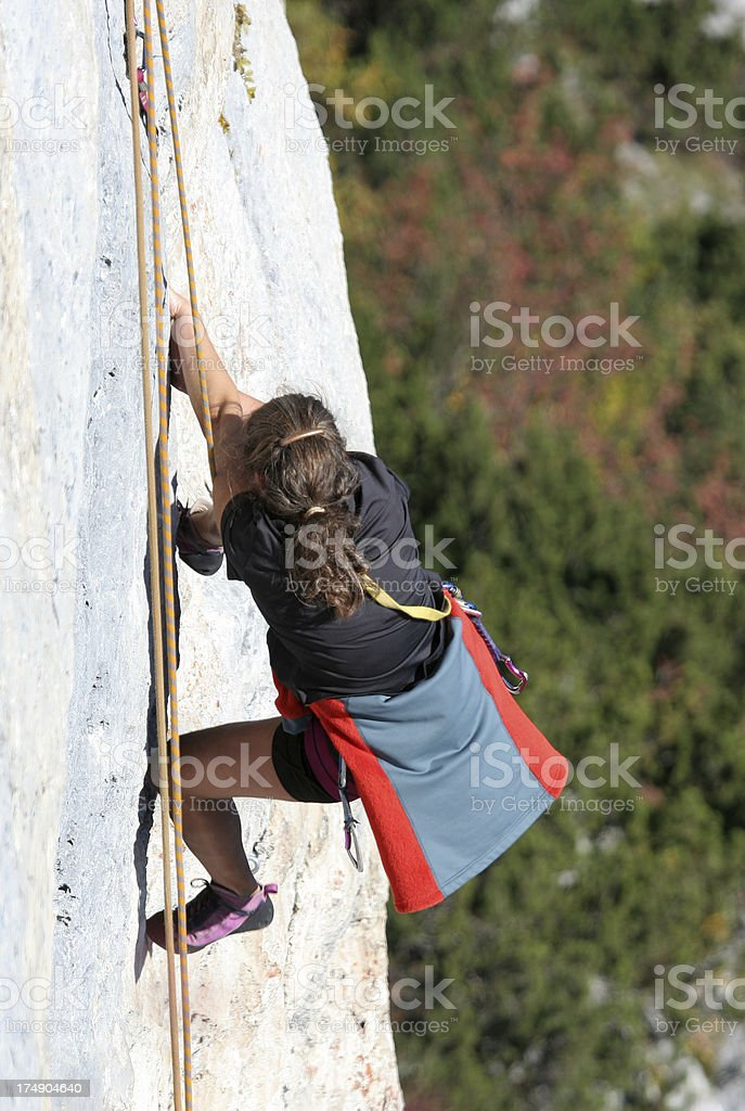 Difficult climbing route 2 stock photo