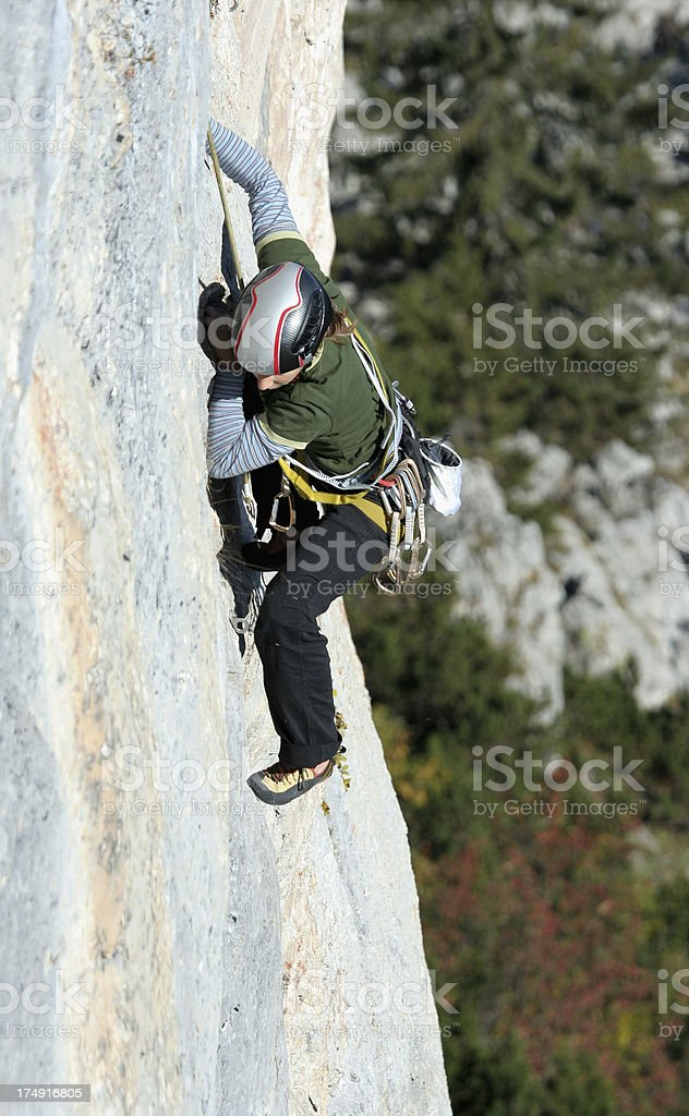 Difficult climbing route 4 stock photo