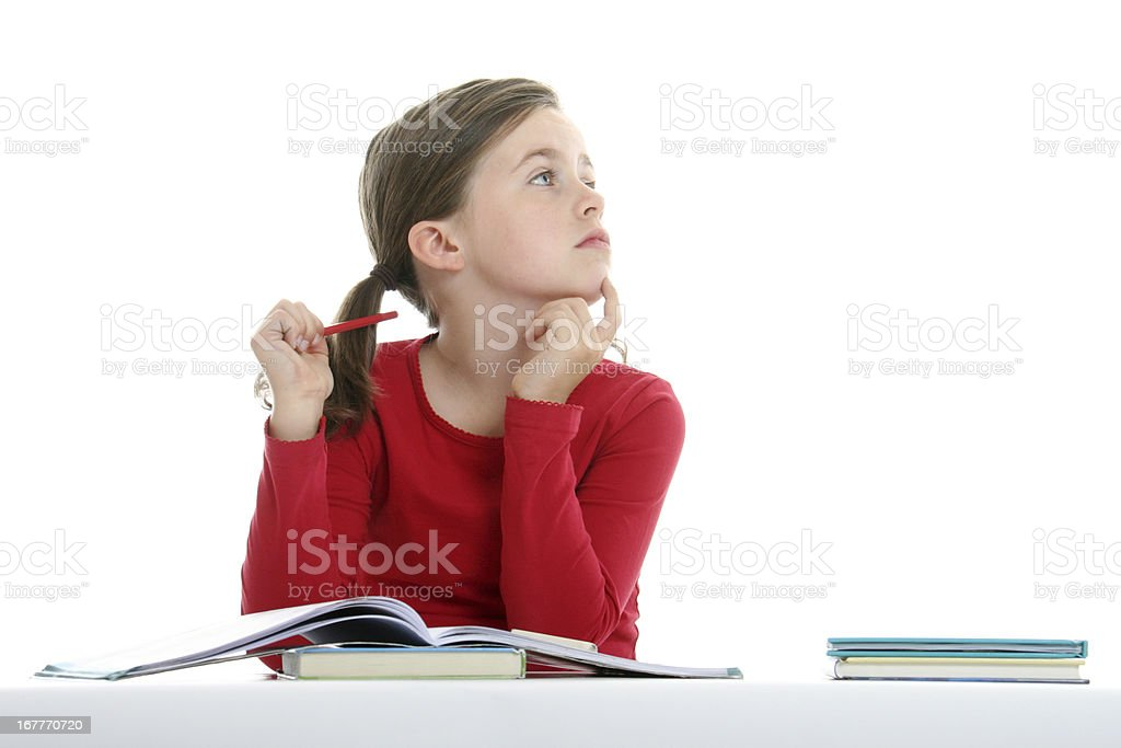 difficult homework royalty-free stock photo