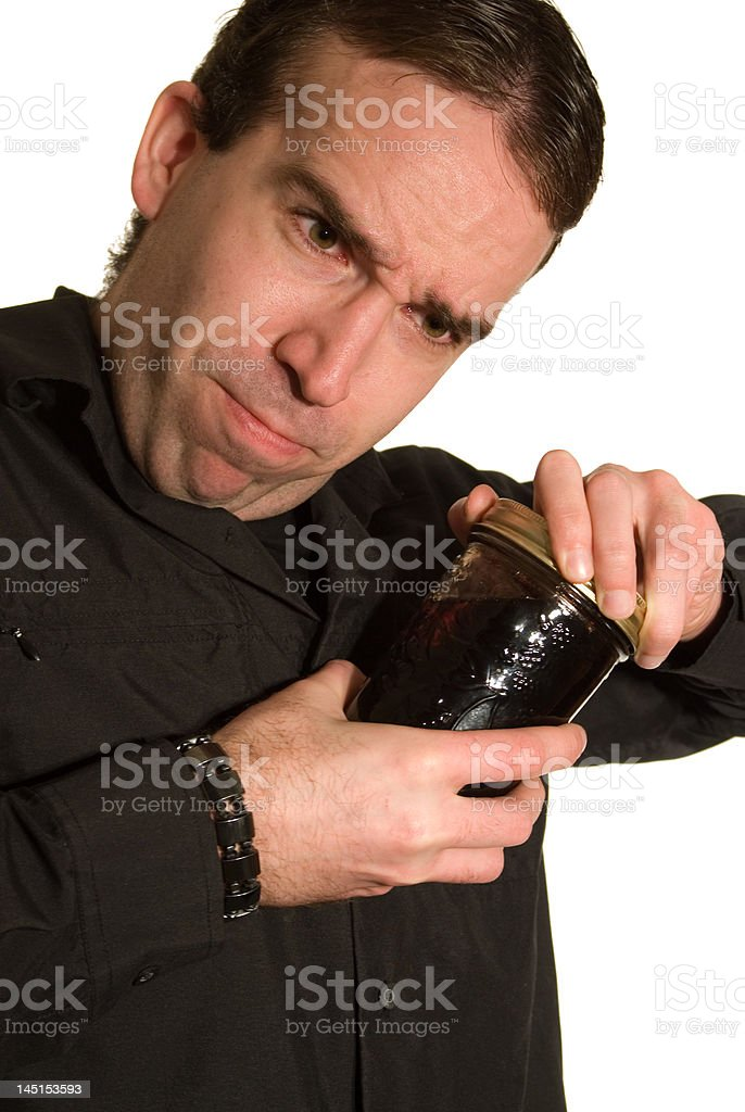 Difficult Jar To Open royalty-free stock photo