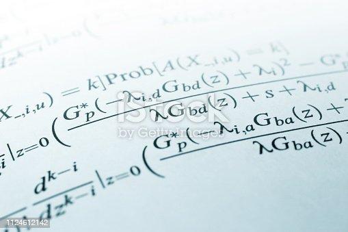 Close-up of mathematics formula.