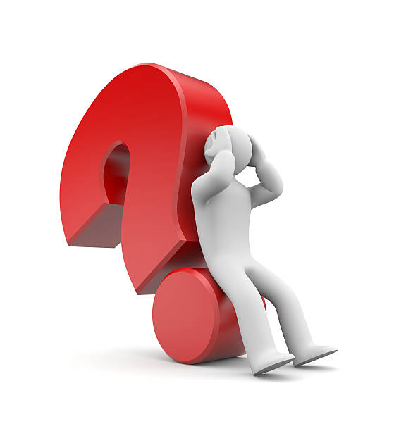 Difficult question stock photo